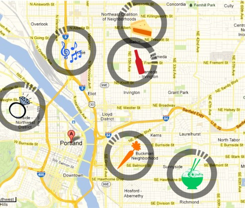 Some of Portland's local business hotspots
