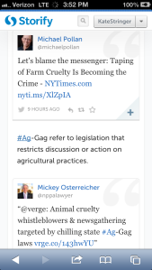 Food journalist Michael Pollan and attorney Mickey Osterreicher weigh in on Ag-gag laws