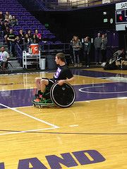 Senior Sam Bridgman on the court for the second annual SamJam event | Photo by Ariana Villegas
